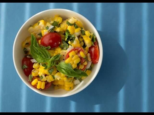 Chef Becky's Summer Corn Salad with Basil and Tomatoes