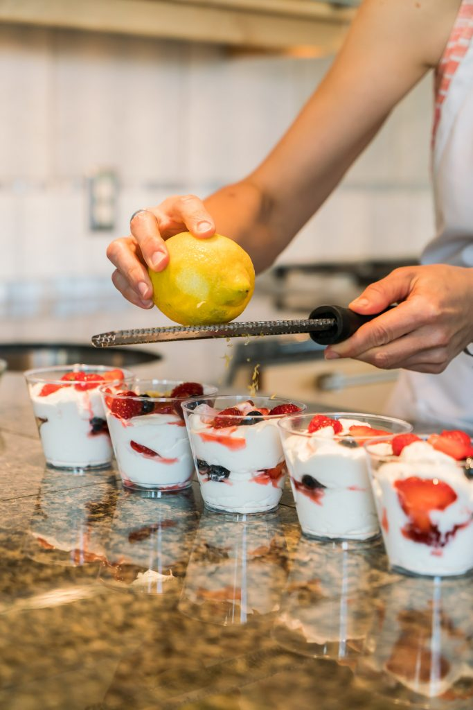 Chef Becky's Triple Berry Parfait and Fish Tacos episodes